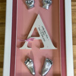 3d framed full set of casts with wooden initial