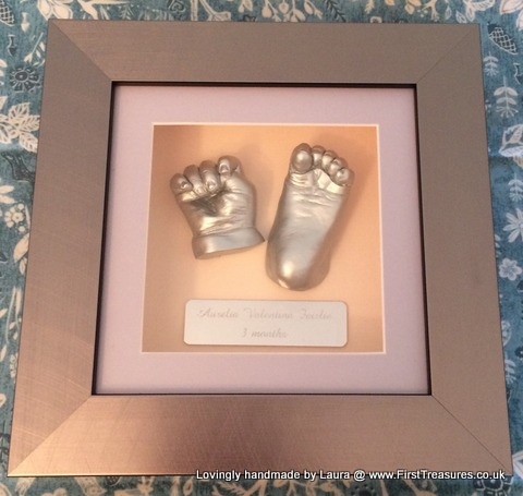 3d framed hand and foot cast