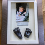 3d framed hand and foot casts with photo