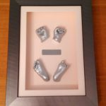 3d framed hand and foot with photo