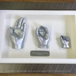 3d framed family hands