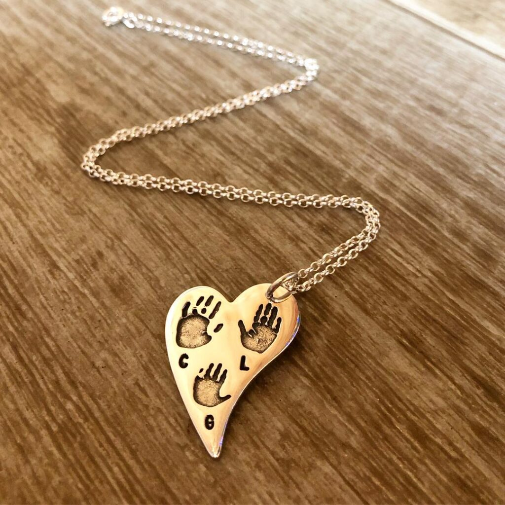 Large Hand and Footprint Necklace