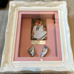3d hand and foot casts in vintage frame