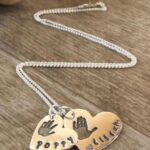 small and medium single print necklace